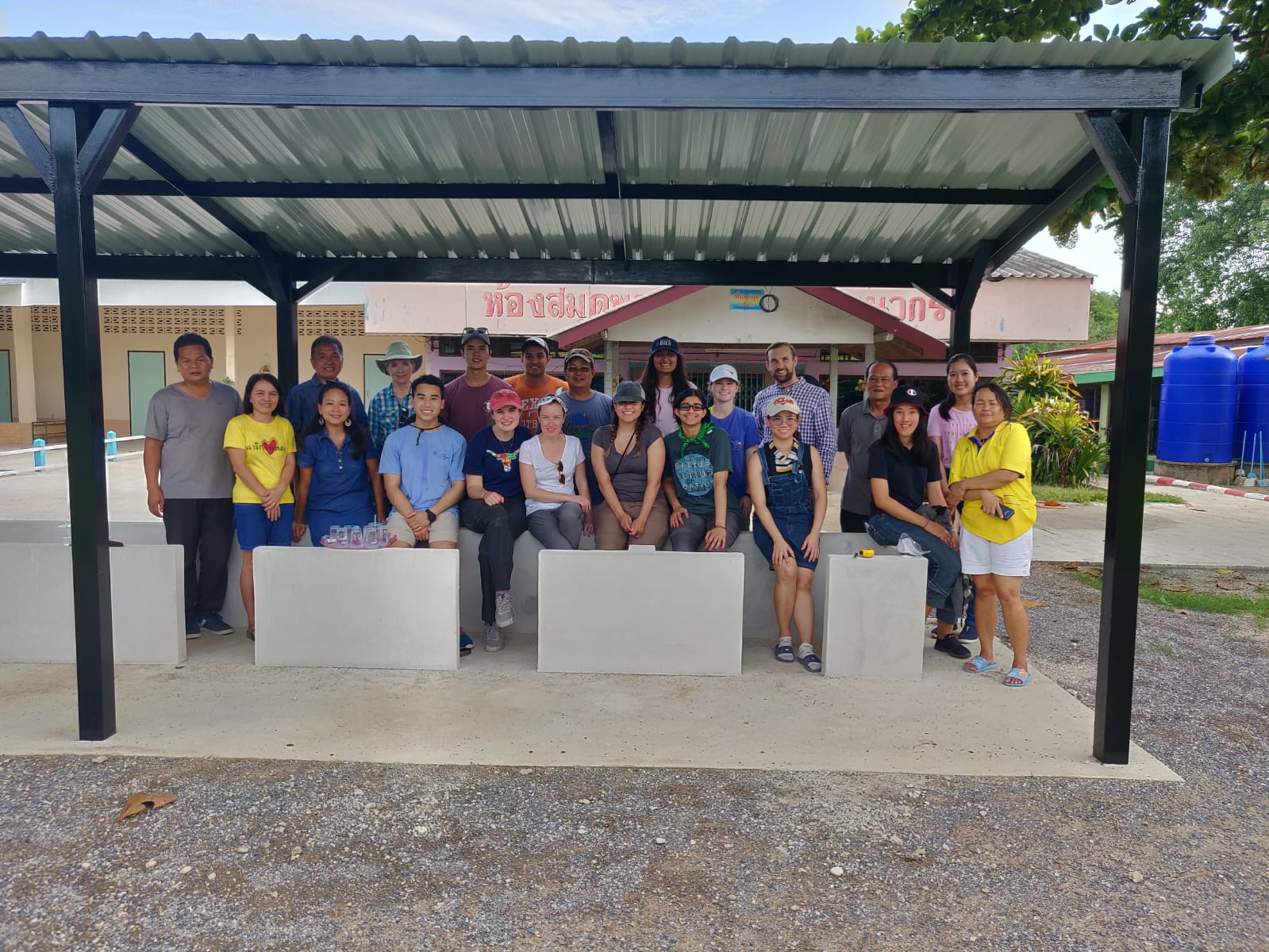Both teams went to Ban Huai Yang Elementary School to check out the progress made from our design for pre-arrival!