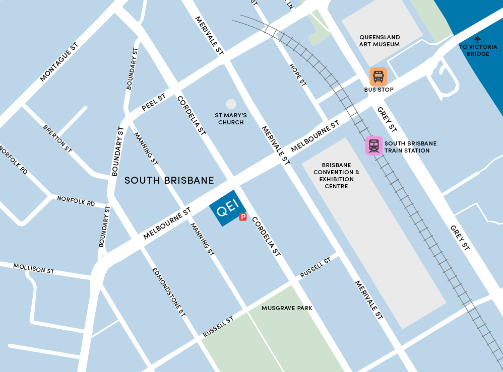 Queensland Eye Institute South Bank Location - Click for Google Maps