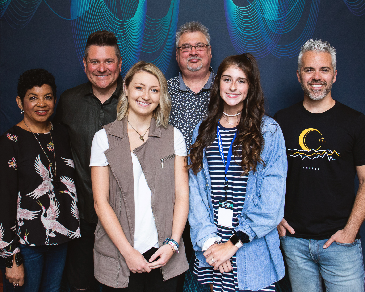 L-R: Jackie Patillo (Executive Director / GMA), Jay DeMarcus (Owner, Red Street Records), Abby Siler (GMA IMMERSE student and scholarship recipient), Don Koch (General Manager, Red Street Records), Kendall Pond (GMA IMMERSE student and scholarship recipient) and Justin Fratt (Director of Operations, GMA) Photo Courtesy of GMA / Gospel Music Association »  CLICK HERE FOR HIGH-RES VERSION
