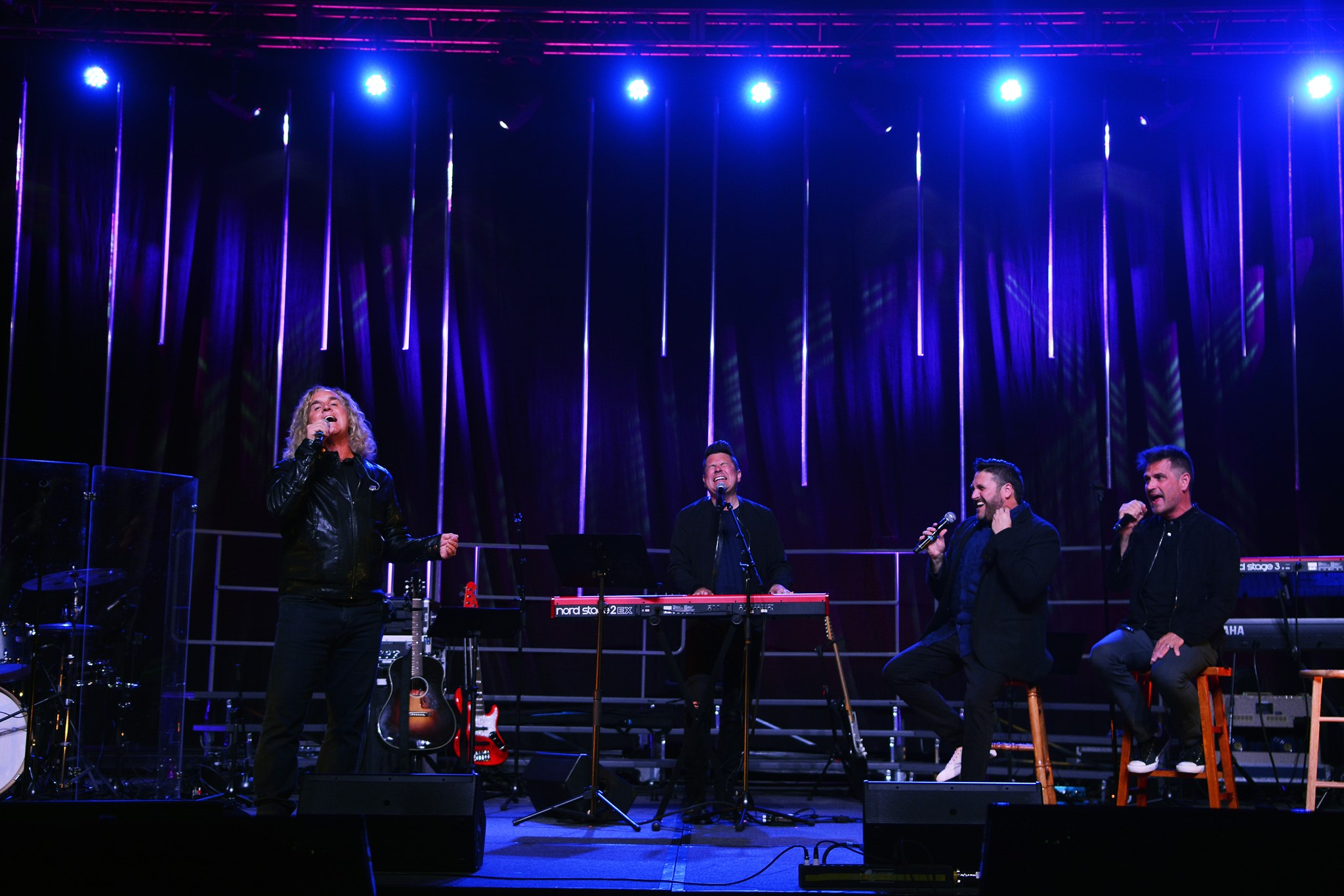 Jason Scheff, formerly with the band Chicago, makes a special appearance during Avalon's performance at LifeWay's WorshipLife Conference in Gatlinburg, TN.