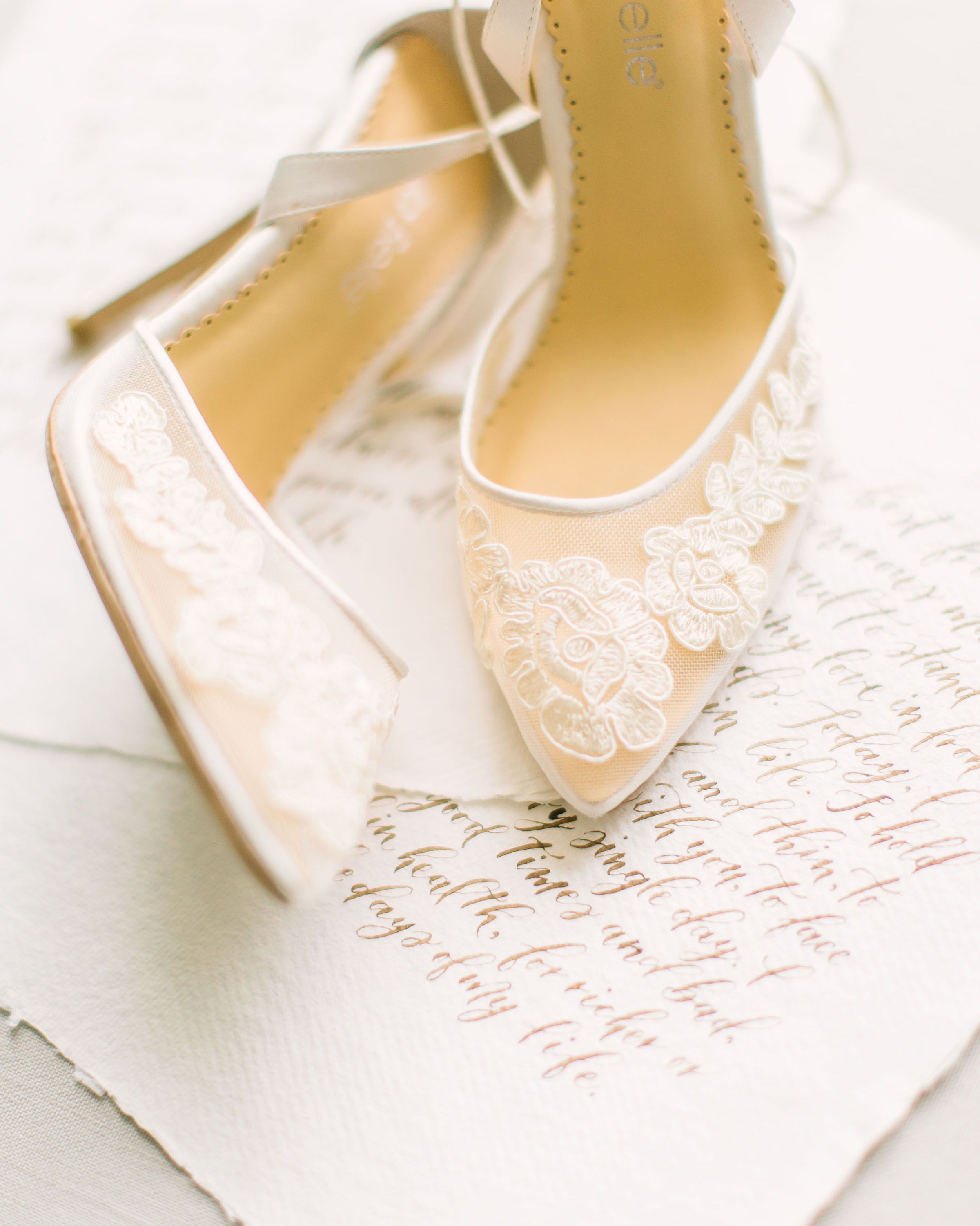Fine Art Wedding Vow Calligraphy by Caitlin O'Bryant Design. Photo by Kate Elizabeth Photography.