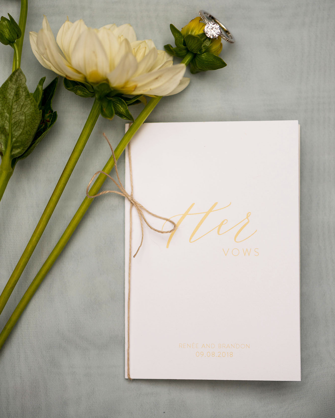 Whimsical Garden Wedding Custom Vow Books. Photo by Tina Ricketts Photography. Host: Styled Shoots Across America