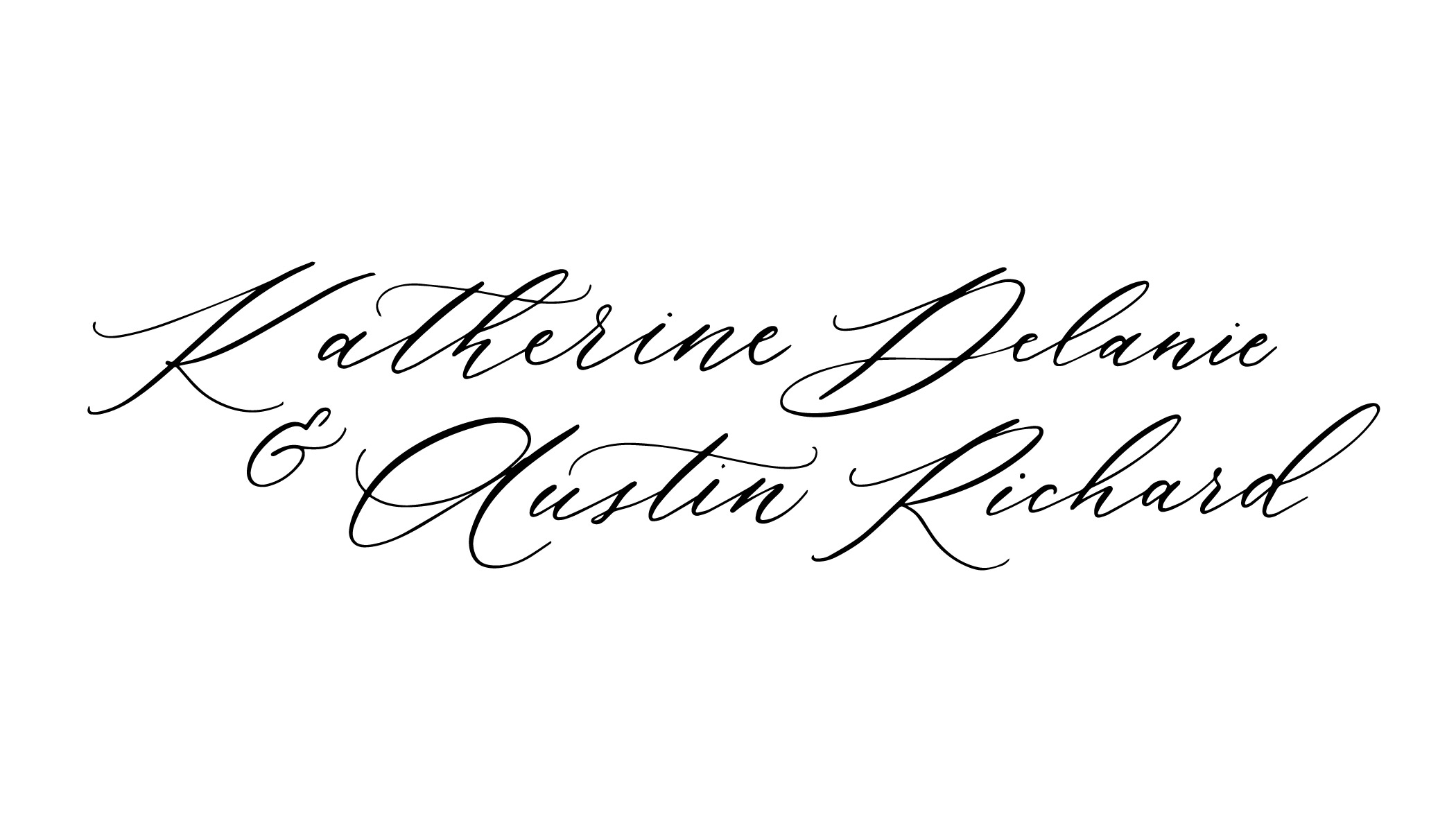 Caroline Calligraphy Style by Caitlin O'Bryant Design
