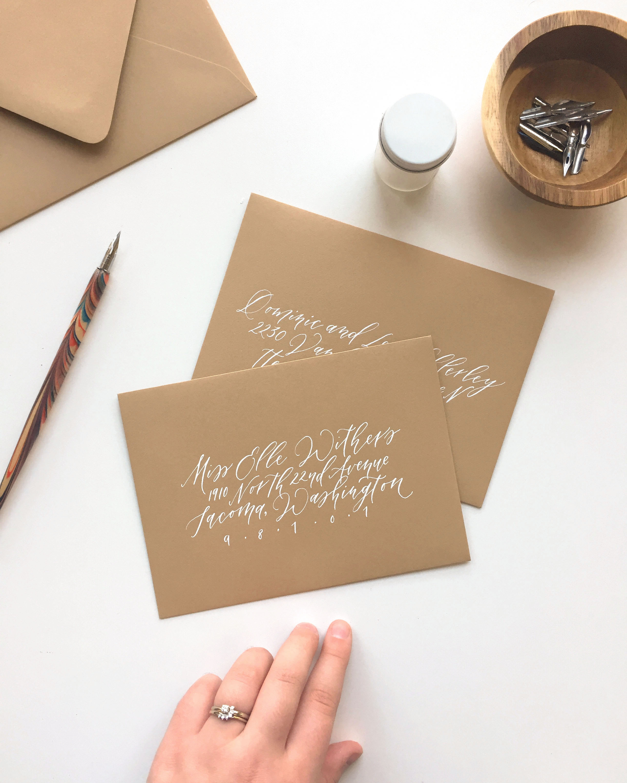 Calligraphy envelope addressing by Caitlin O'Bryant Design
