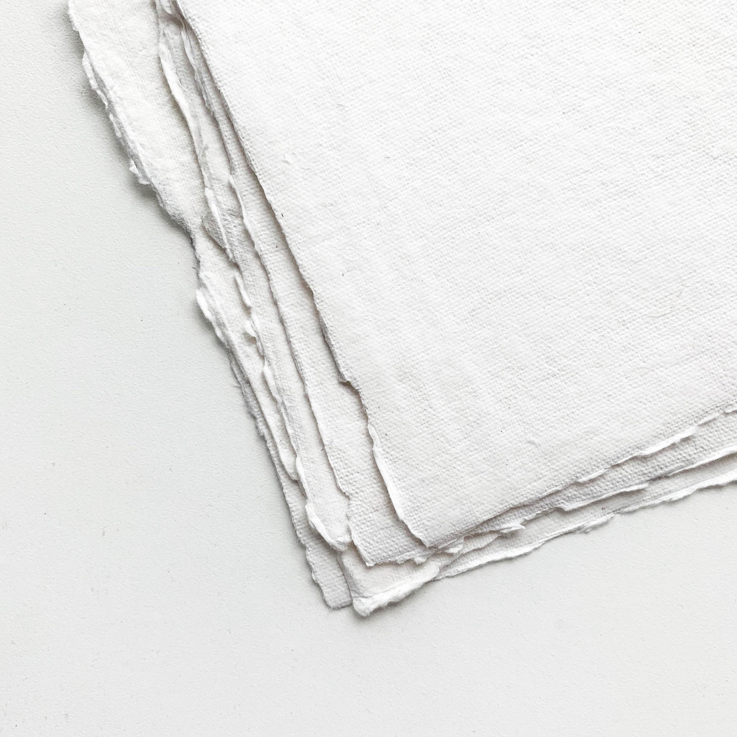 Deckled Edge Cotton Paper