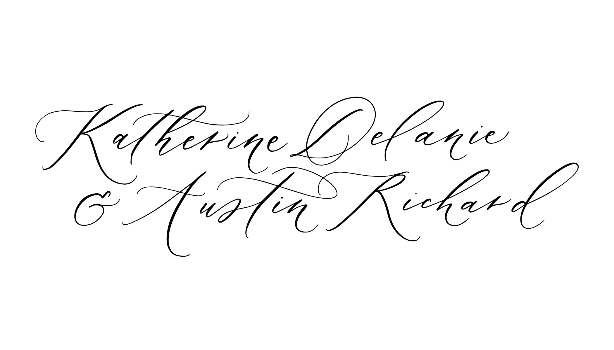 Antiqua Calligraphy Style by Caitlin O'Bryant Design