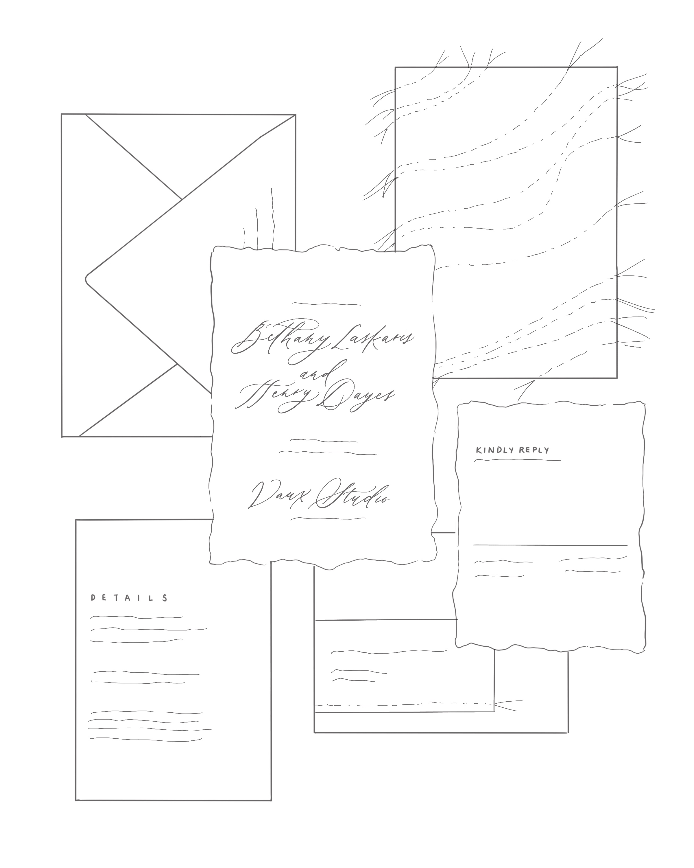 Behind the Scenes: Sketching Custom Stationery. How sketching can change your creative business.
