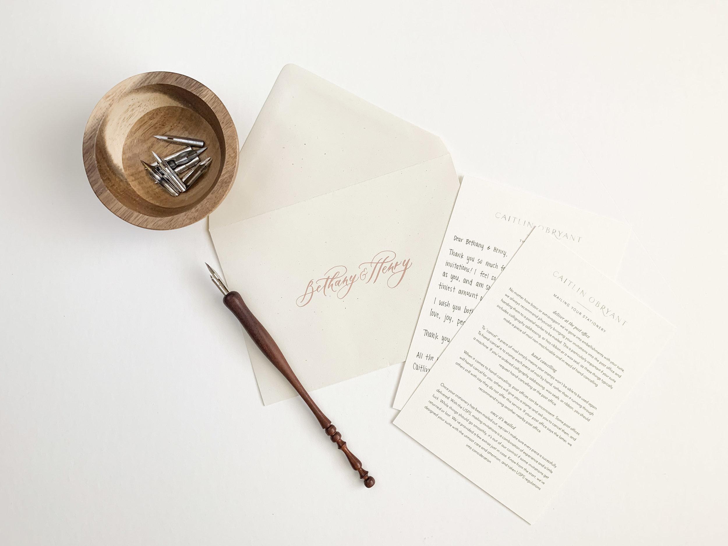 Behind the Scenes: Packaging Wedding Invitations. A behind the scenes look at how we package our custom and semi-custom luxury wedding invitations.