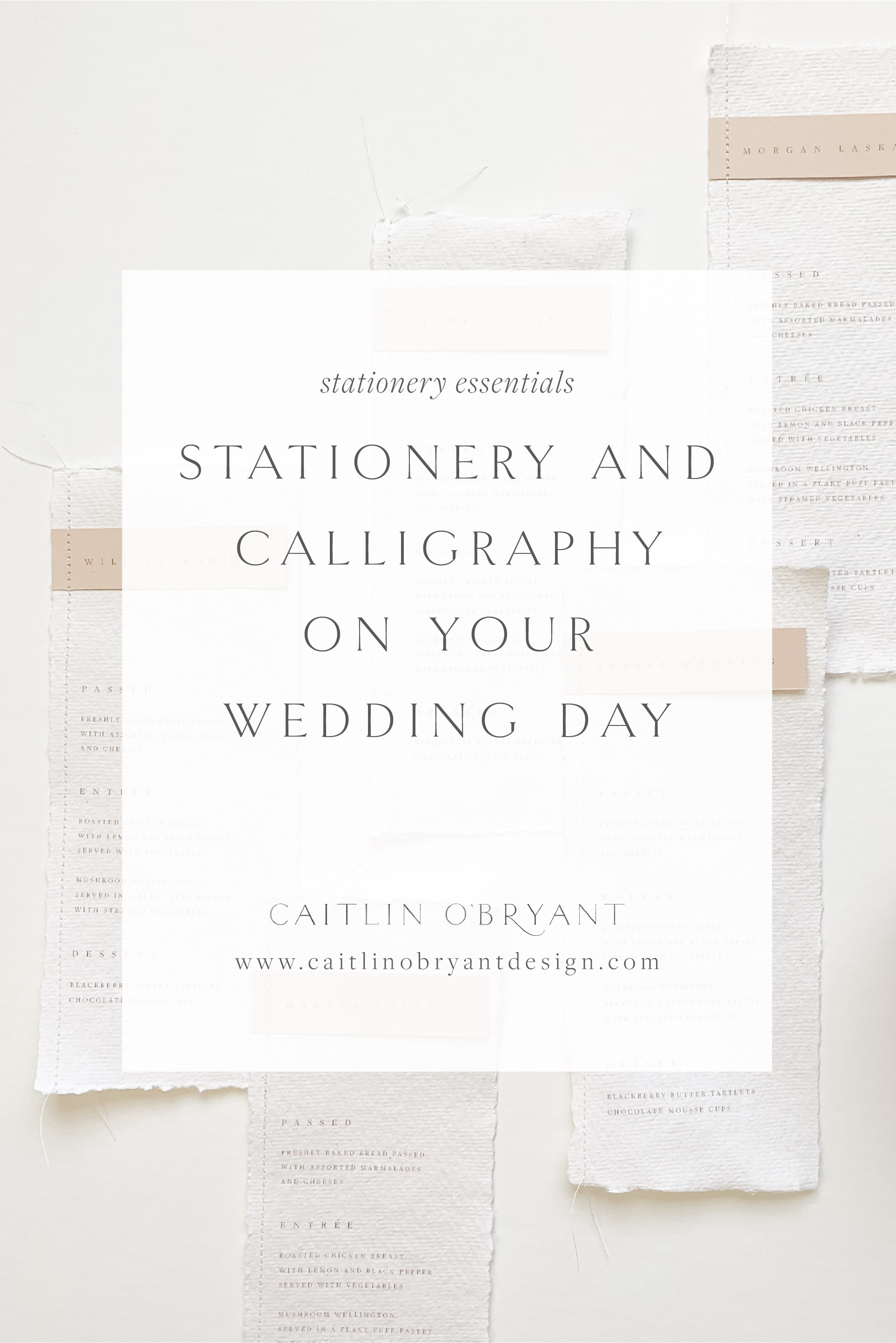 Stationery and Calligraphy on Your Wedding Day. All about menus, place cards, escort cards, seating charts, programs, and other paper goods on your wedding day.