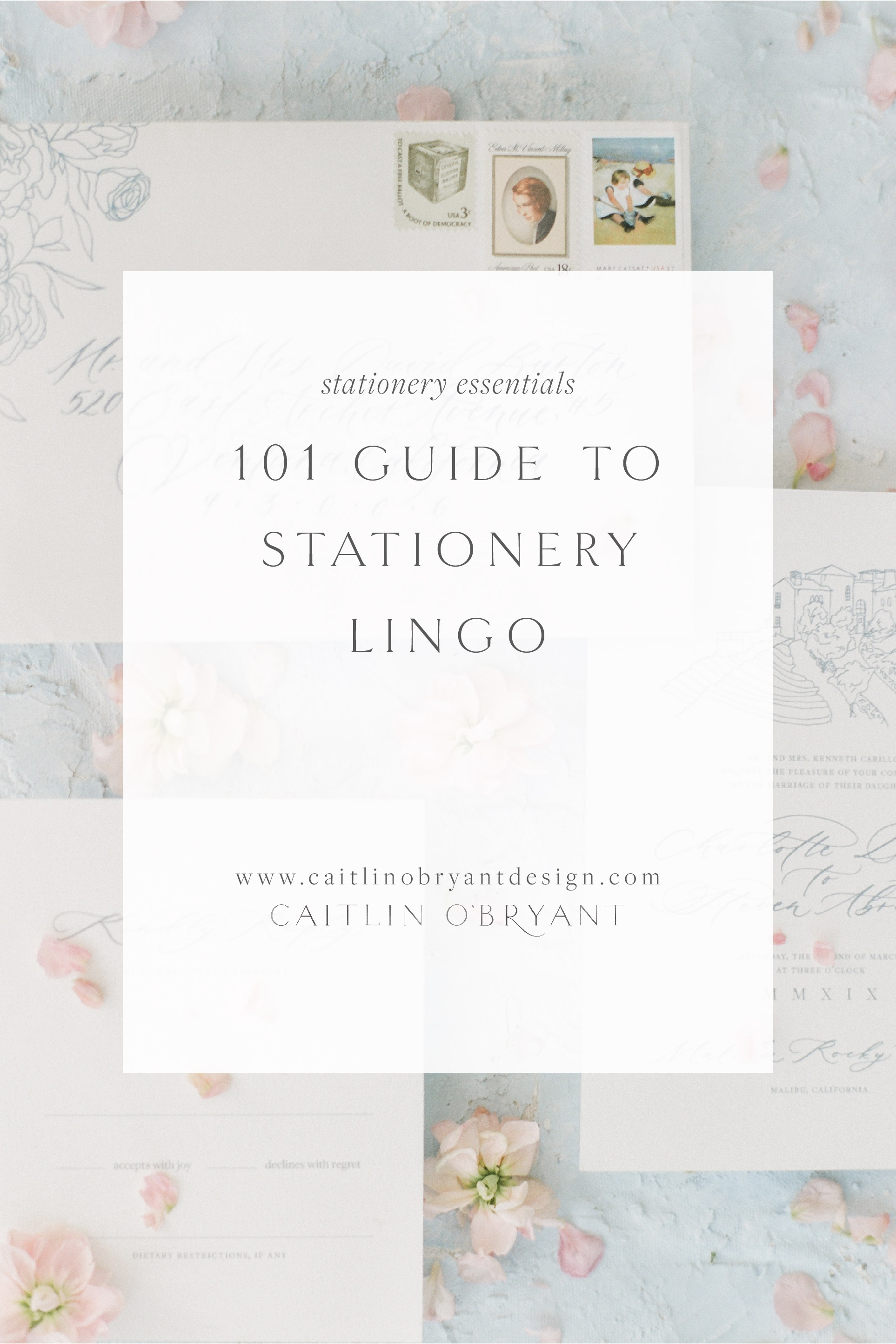 A 101 Guide to Wedding Stationery Lingo. All the basic terms you should know when ordering wedding invitations.