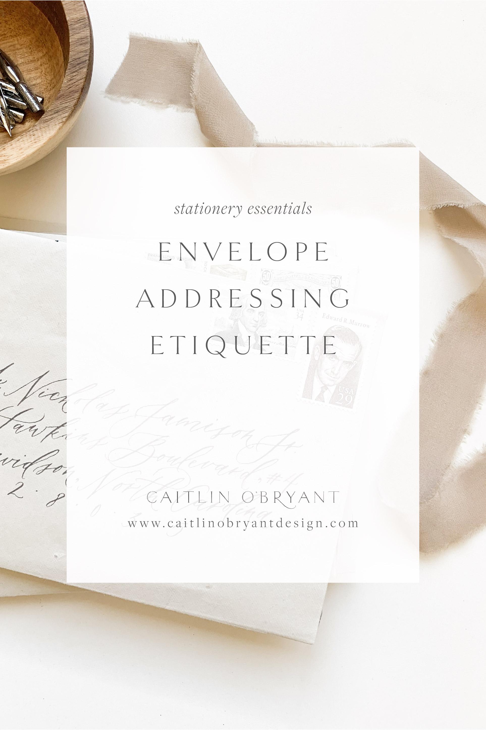 Envelope addressing etiquette for weddings. Formal and informal wedding invitation etiquette
