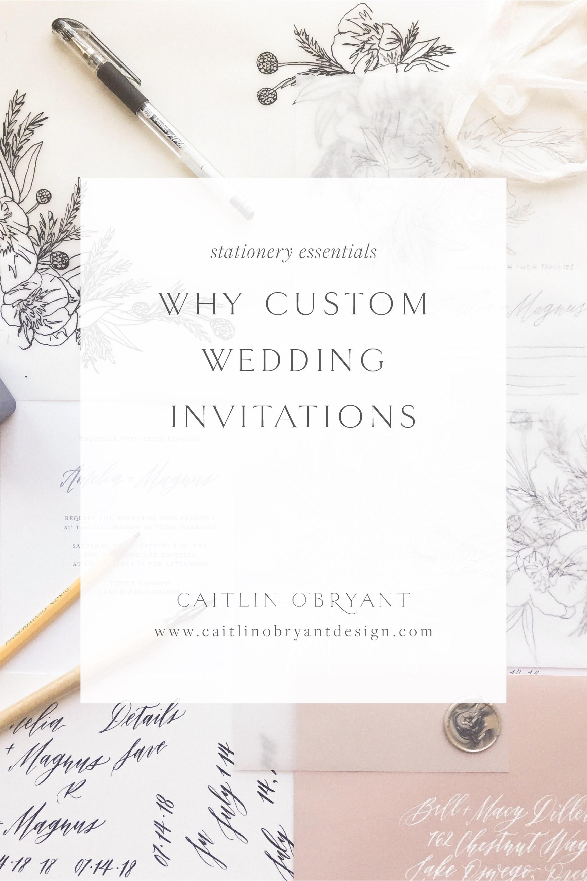 The benefits of custom wedding invitations. Why choose custom wedding stationery.
