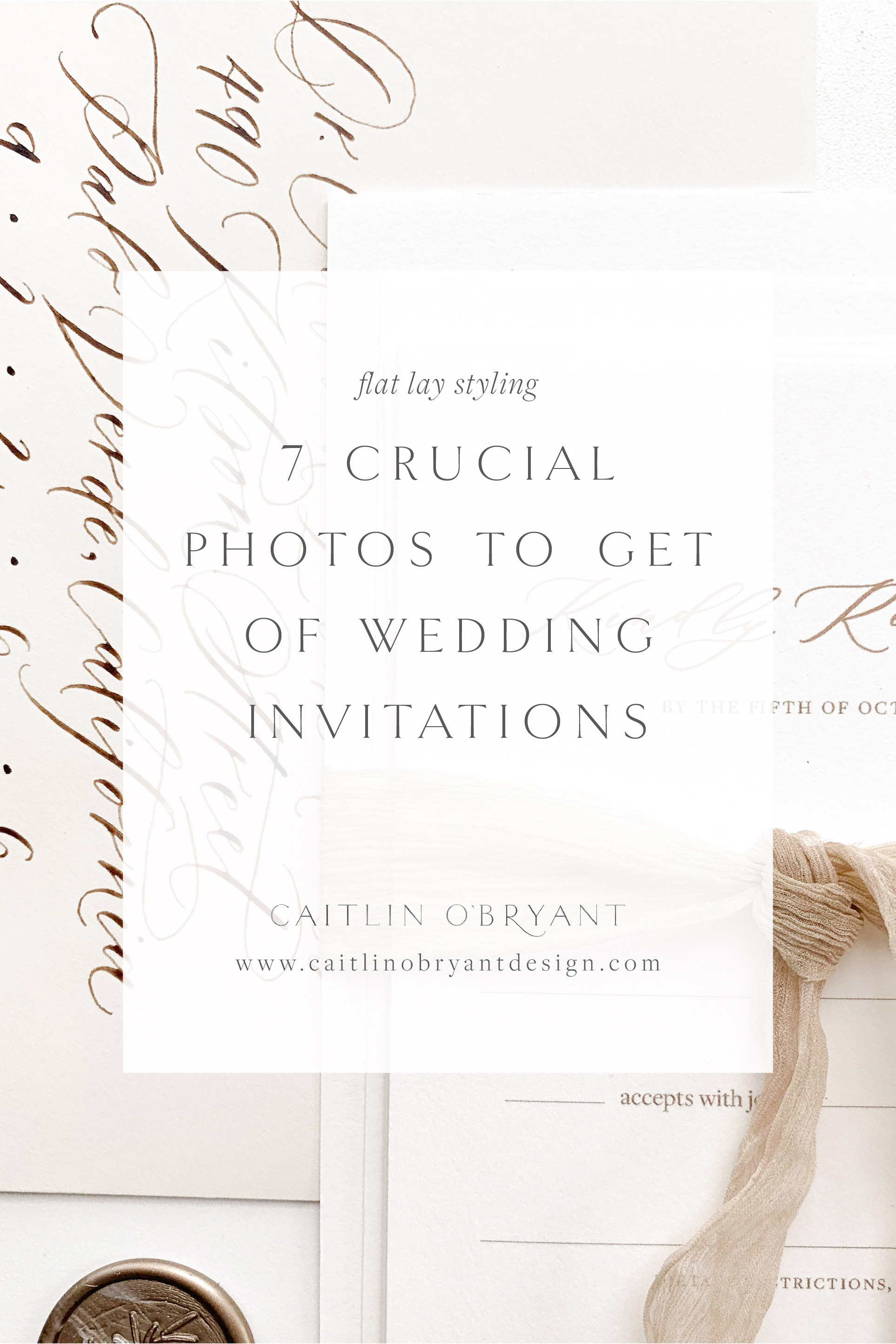 7 Crucial Shots to Get When Photographing Wedding Stationery. A comprehensive, must-have stationery shot list for wedding photographers.