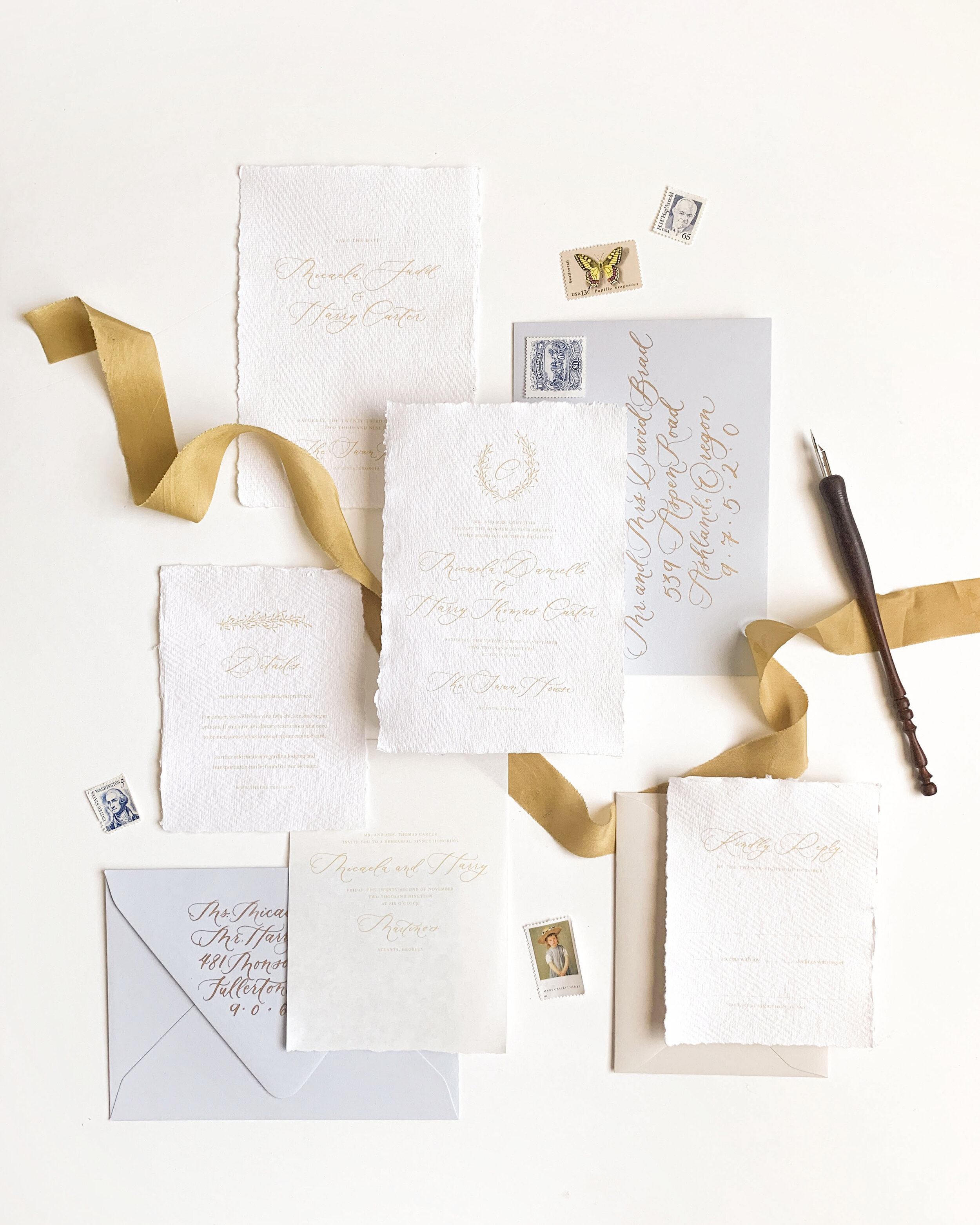 let's work together - If you're looking for refined, hand-crafted wedding invitations, you're in the right place! With years of experience and education under our belt, we're ready to help bring your vision to life, creating a meaningful heirloom for your wedding day. Tell us a little bit about you and your event, and we'll send over a quote and talk options!