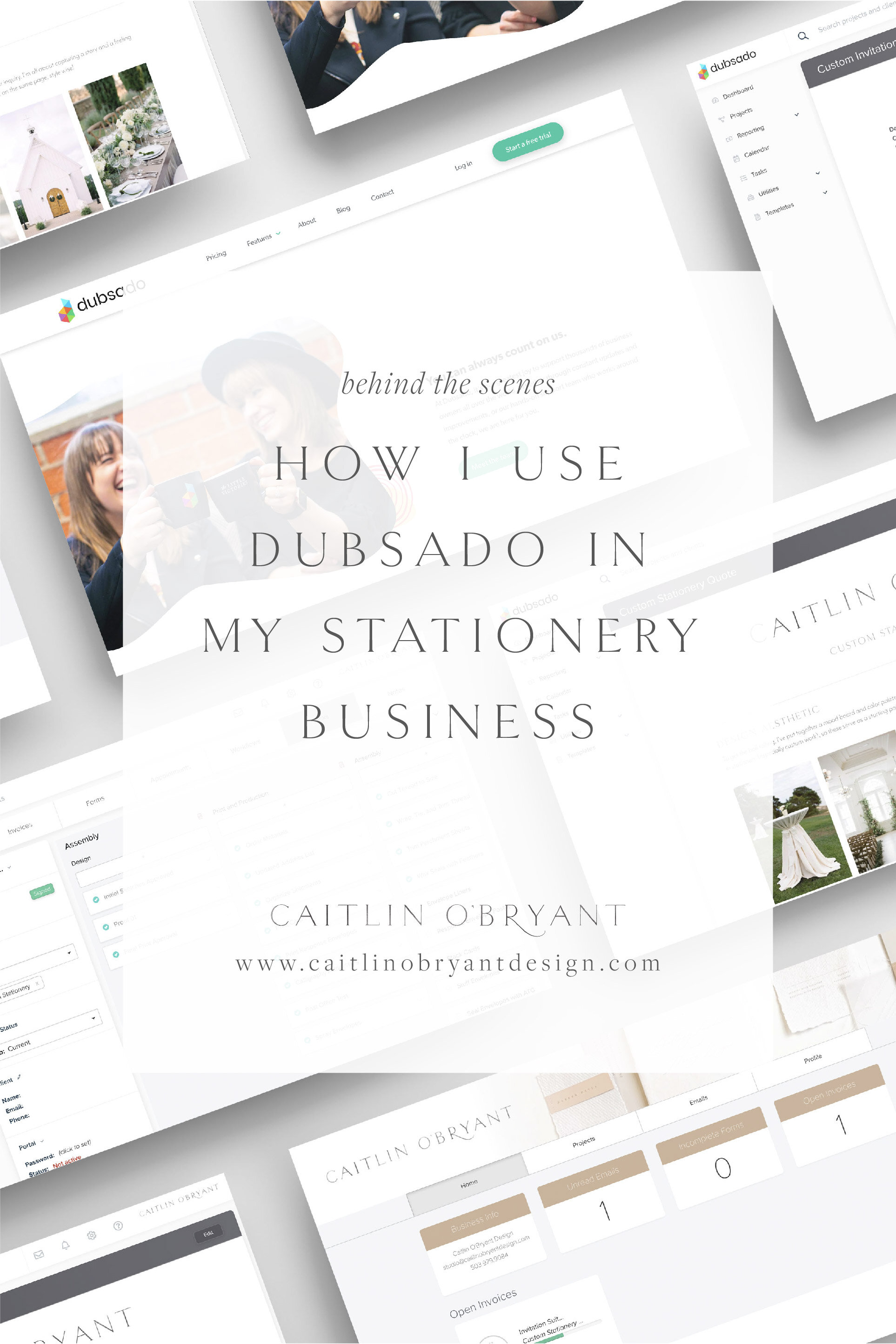How I Use Dubsado in my stationery and calligraphy business. Dubsado for wedding stationers. Dubsado discount code. Client Management for small businesses. Wedding stationery client management. Stationer and calligrapher business tools. Designer business tools. Freelance business tools.
