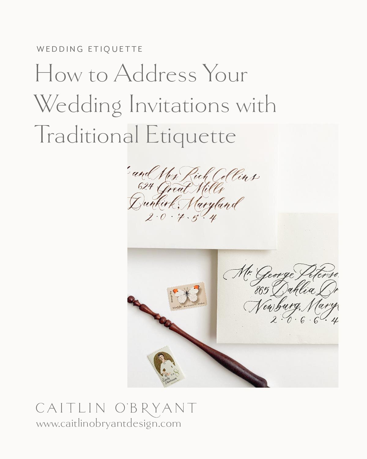 How To Address Wedding Invitations With Traditional Etiquette