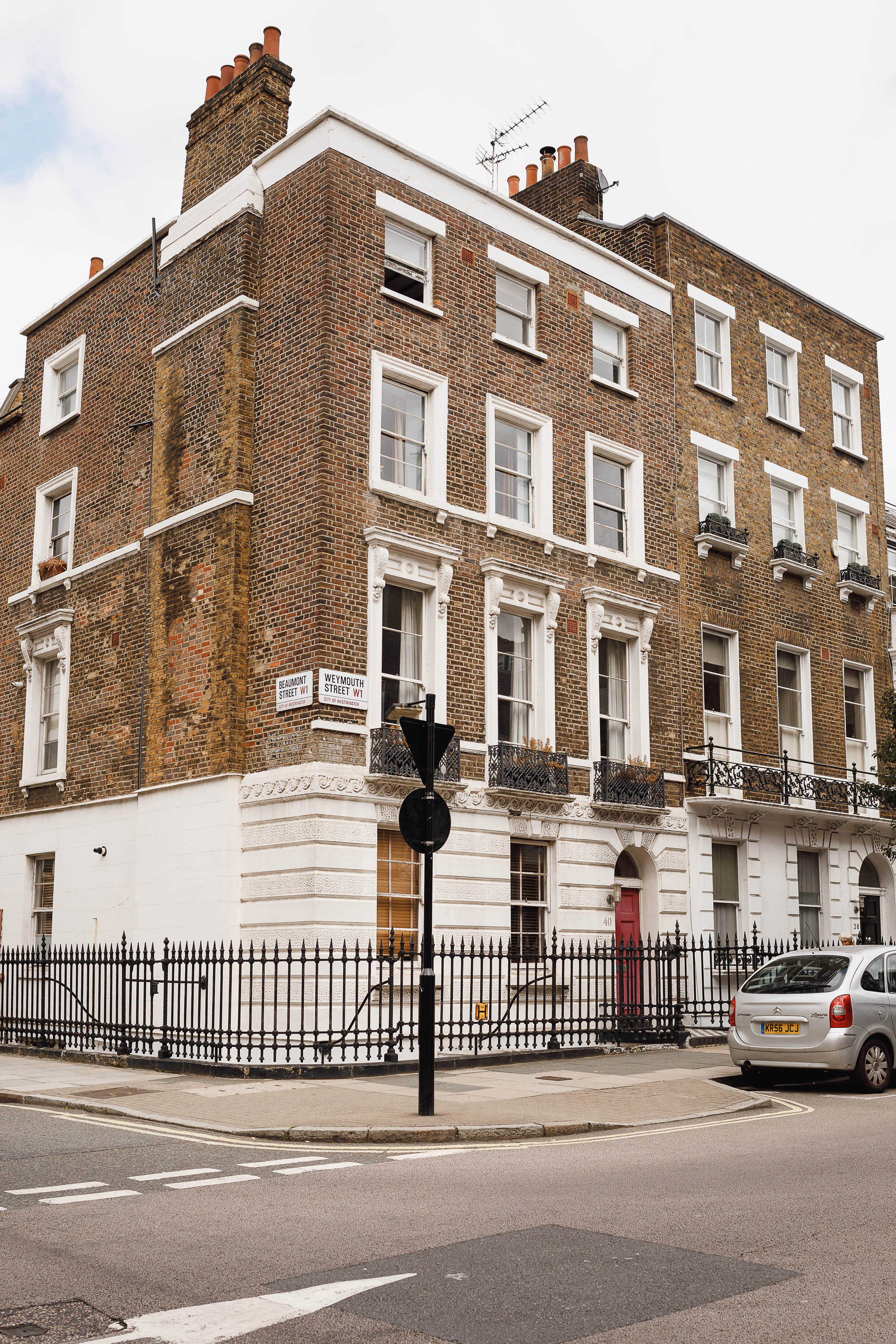Dr Herring's Rest Home for Soldiers in Weymouth Street today.
