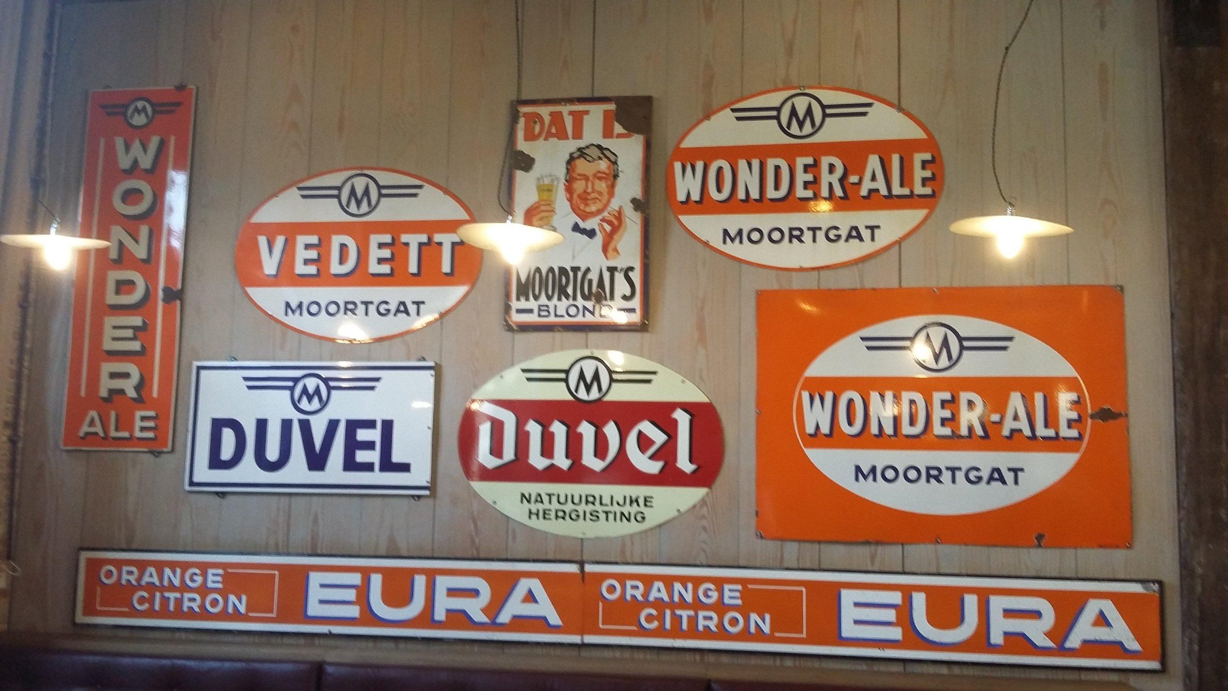 Classic advertising at Duvel tasting room