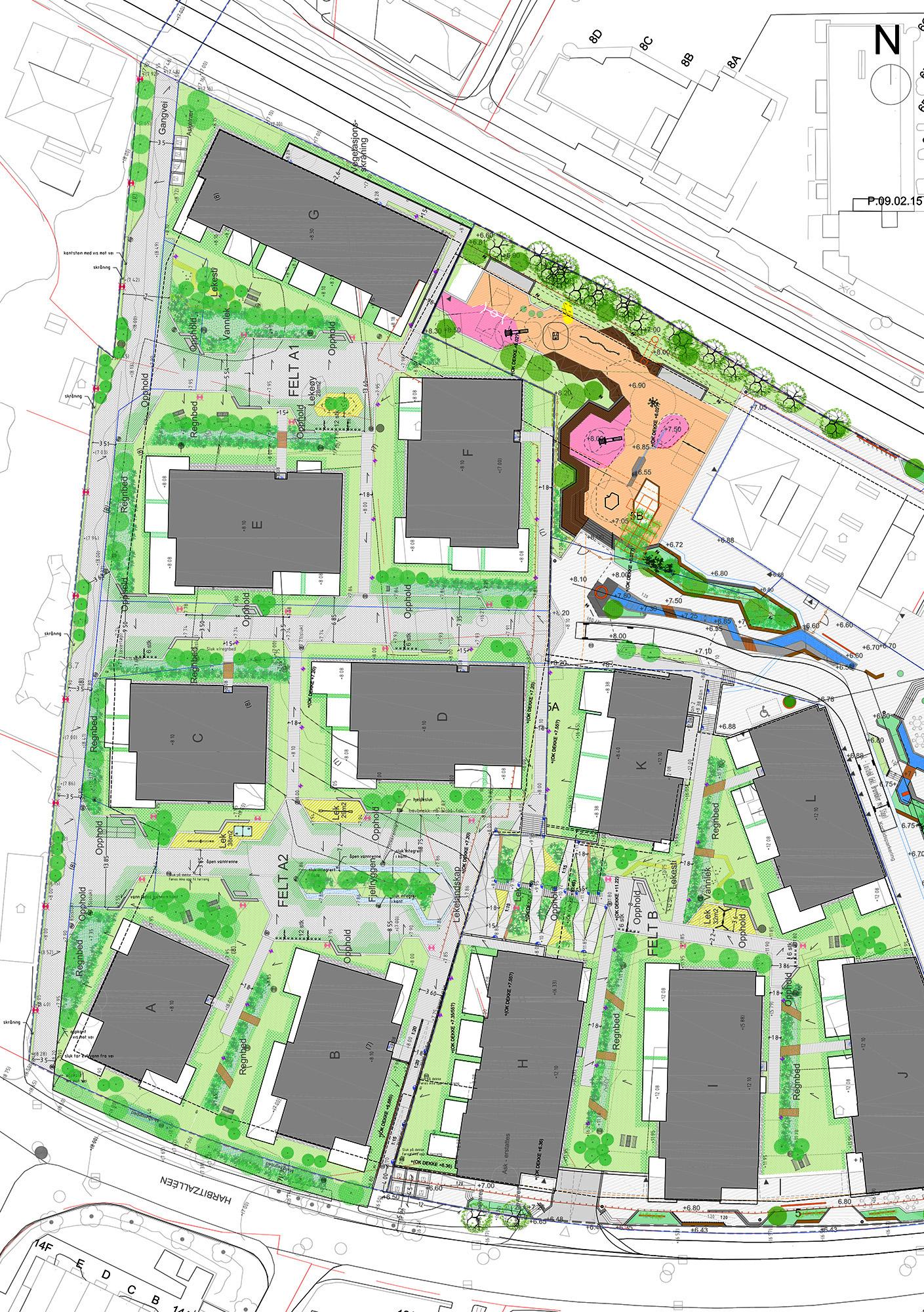 Landscape plan by Grindaker as Landskapsarkitekter