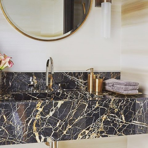 📷@alliedstoneinc We are suckers for stone basins!! 🤤 Love the use of gold fixtures and accessories to pick up the colour in the stone 👌🙌😎 #stonebasin #goldtapware #bathroomdesigner #bathroomdesign #goldcoastdesigner #instagood #instadaily #photooftheday #like4like #interiordesign #interiorspace #homedecor #interiorinspiration #dreamhome #naturalstone #myspace #interiordesign #bathroomdecor #bathroomsofinstagram #bathroomsofinsta #picoftheday #bathroomgoals #moderbathroom #modernhome #dreamhome #interiorlovers #thomasbernardconcepts
