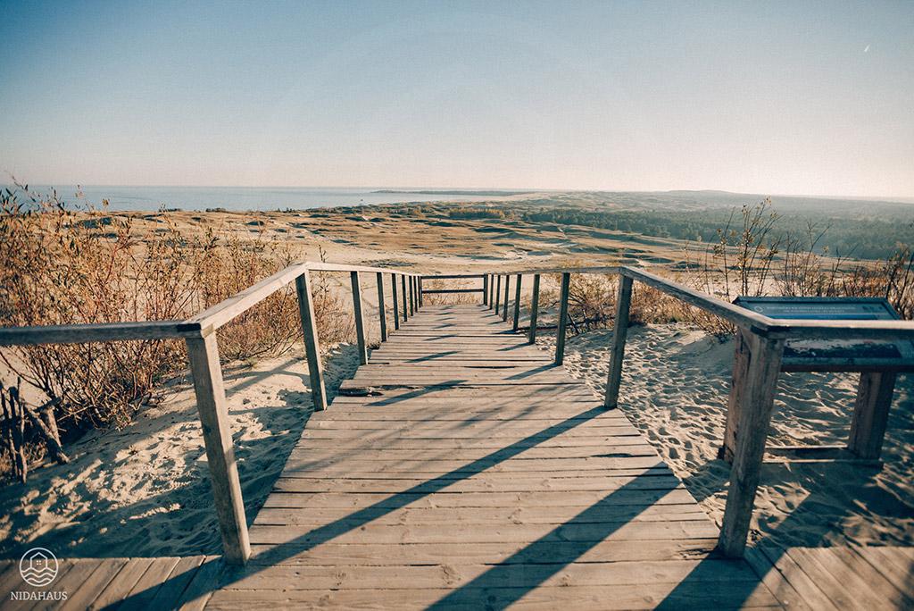 Blick auf das Kurische Haff auf der Hohen Düne in Nidden (Nida) | NIDAHAUS, Kurische Nehrung, Litauen