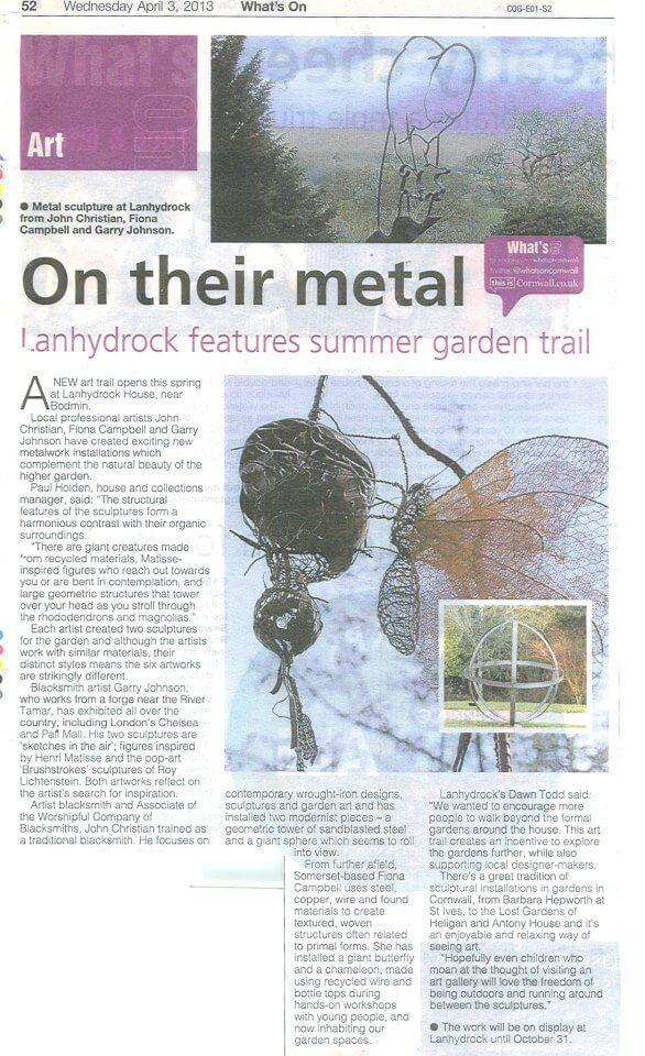 Lanhydrock - Cornish Guardian April '13