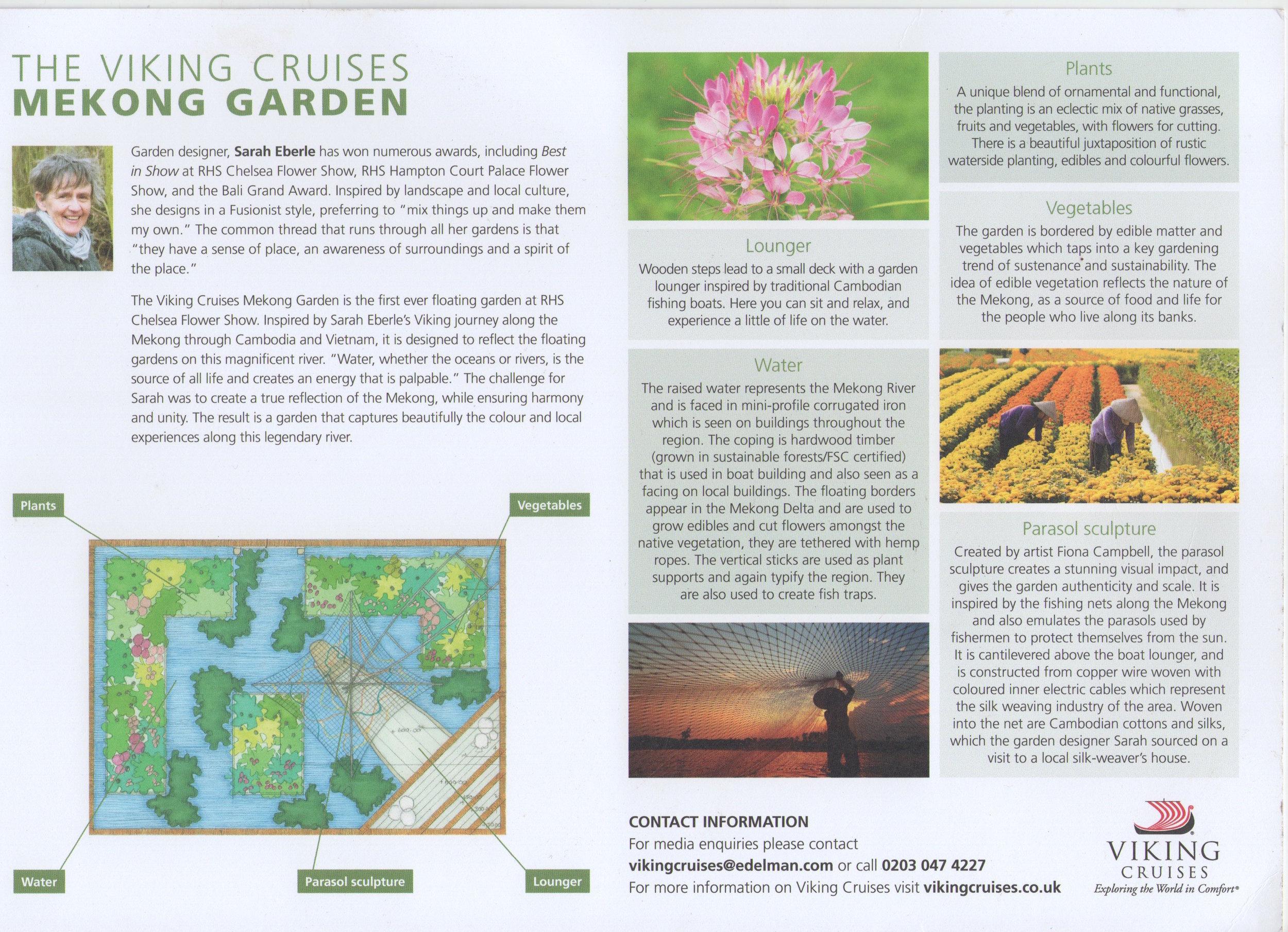 Viking Cruises brochure for Chelsea Garden, May '16
