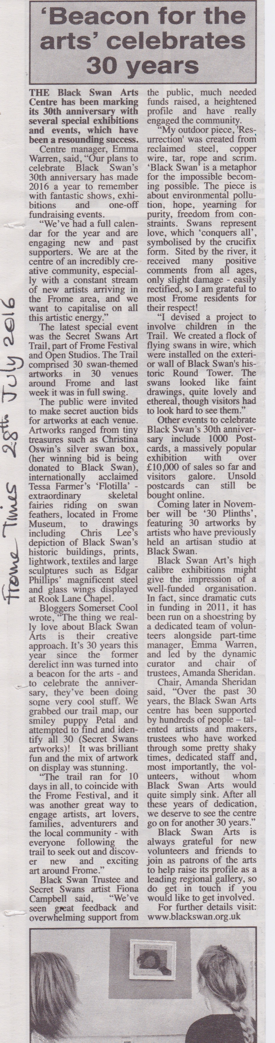 Black Swan - Beacon for the Arts - Frome Times 28:8:16