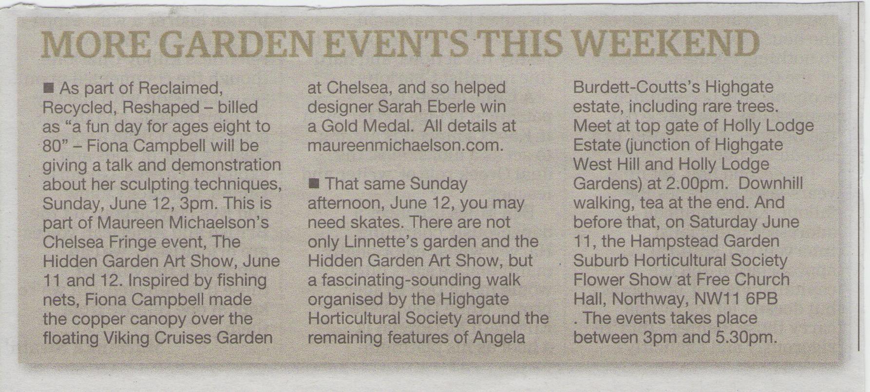 Ham & High - Garden Events