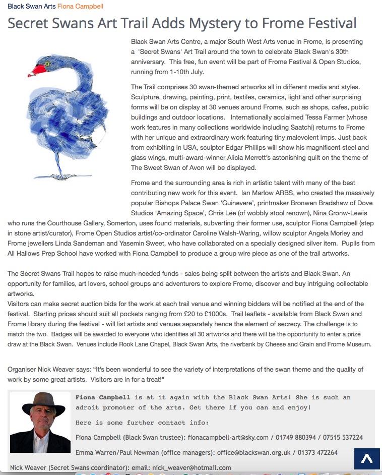 SculptSite.com - Secret Swans Art Trail