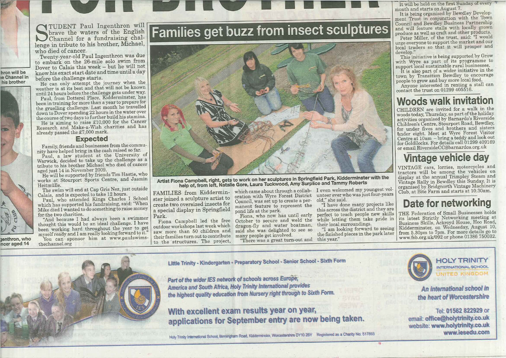 Chronicle front page - Stackpool, Kidderminster