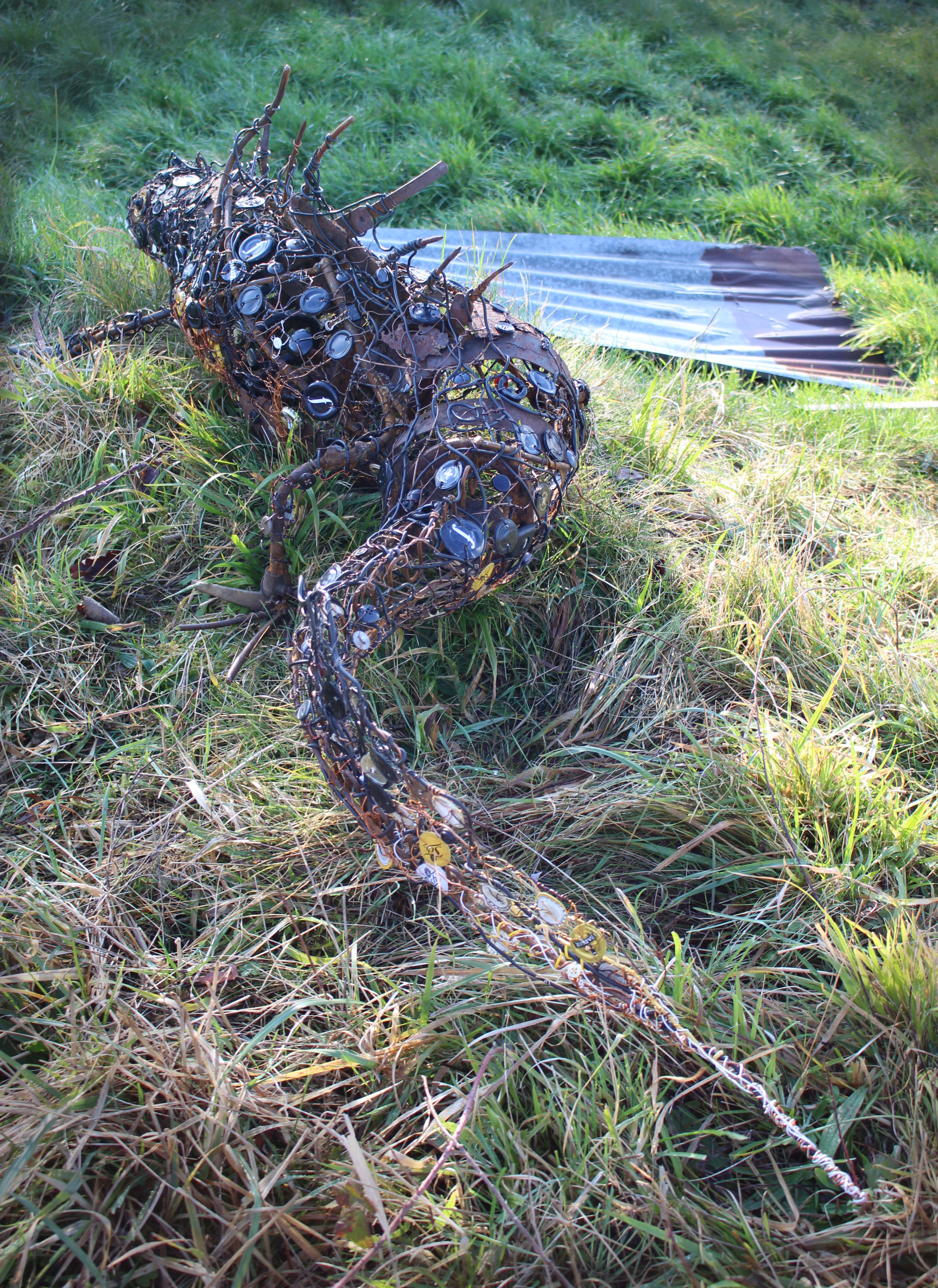 Great Crested Newt 168x90x46cms, recycled materials, Carymoor Environmental Trust.jpg