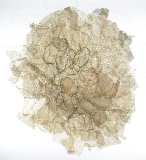 Fiona Campbell Traces  handmade paper, copper wire, oil, glue  143 x 116 x 7cms.jpg