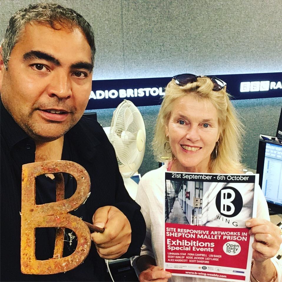 BBC Radio Bristol & Somerset interview, Fiona on Martin Evans Show.JPG