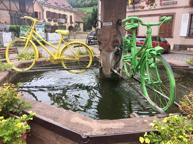 Chatenois in the Alsace - guessing the tour passed through this beauty of a village. #tdf #chatenois #alsace #instacycling #cycling #cyclinglife #cyclingculture #bikeart #velo