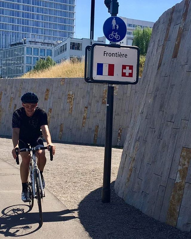 Crossing borders - one little ride pulling in France, Switzerland, and Germany.  #cycling #cyclingfrance #cyclinggermany #cyclingswitzerland #cyclinglife #sunday #bikelove