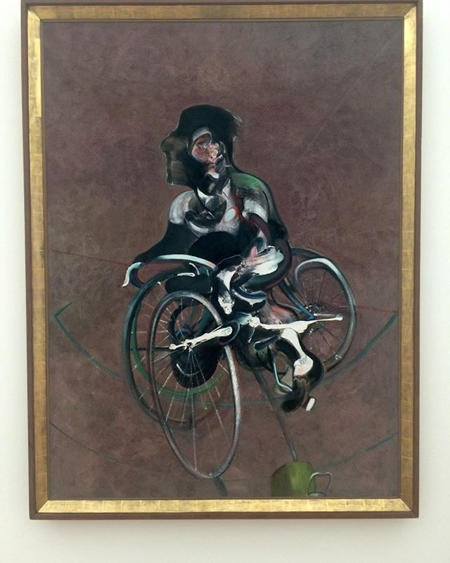 #culture and #art attack Francis Bacon's PORTRAIT OF GEORGE DYER RIDING A BICYCLE at the Fondation Breyer, #basel  #cyclingculture #cyclinglife #dayoffthebike