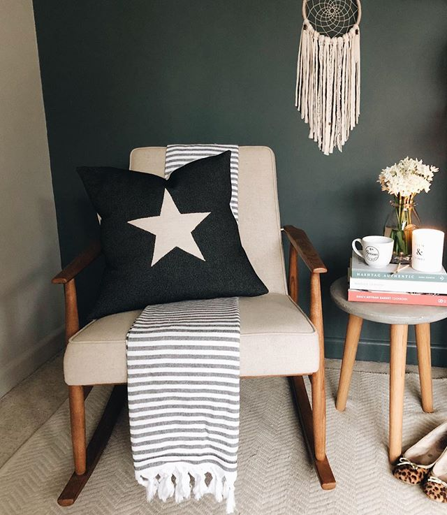A few of my favourite things ❤️ . Stripes (of course) . Our @roseandgreyinteriors rocking chair which is as comfy as it is gorgeous . Two of my go-to recipe books - I am dreaming of baking @gailsbakery cinnamon buns when I am eating gluten and sugar again! . @me_and_orla new book which is reminding us to document the everyday and tell our life's story - as we only get one ❤️ . Paperwhites which have got to be some of the best value flowers out there - they look and smell so lovely . My @boden leopard print pumps which bring a little bit of pattern to my capsule wardrobe and I'll never tire of pairing them with skinny jeans and a white blouse . Oh and Rufus' dream catcher which miraculously seems to be helping him to sleep through a bit (as well as being nice to look at) - how I've missed uninterrupted sleep 😴 . How has your week been? I've been a little quiet on the Instagram/blogging front - just a bit overwhelmed with the busyness of life at the moment - sometimes we just need to take a step back don't we? Anyway, I'm currently writing a blog post on the inspiration for our renovation - feeling all kinds of creative after a wonderful interior styling workshop with @nancy_straughan last week 💕