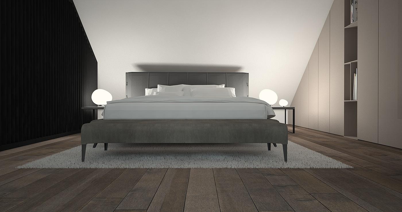 sypialnia widom na łóżko-lampy foscarini.jpg