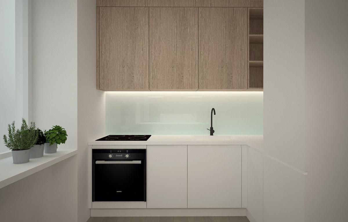 koncepcja kuchni-minimalistyczny styl-fronty lakierowane-fornir dębowy.jpg