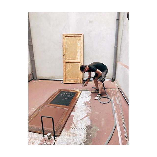 🚪ACCES INTERDIT🚪  #door #air #scrub #renovation #work