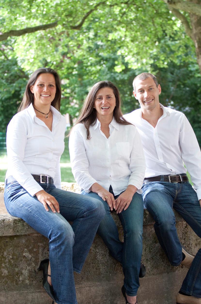 v. l. Christiane Herzog, Tatjana Schweigert, Peter Bürkle