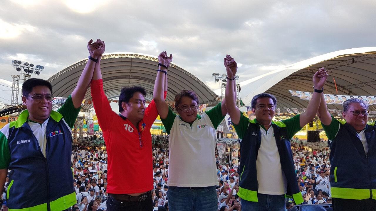 L-R: Former Governor del Rosario, Governor Rodolfo del Rosario, running 2nd district Cong Tony Boy Floreindo and Running 1st District Cong Anthony del Rosario