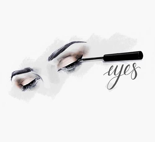 Eyes Eyeliner Illustration Laura Hope