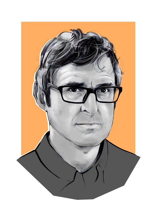 Illustration of Louis Theroux.