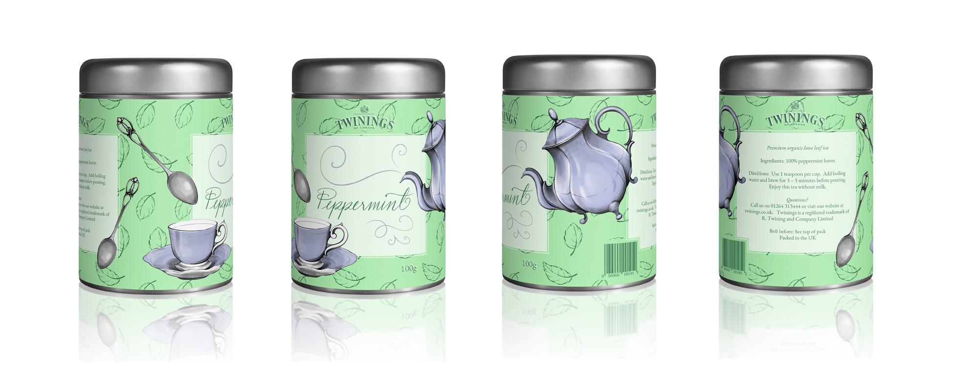Illustrated Packaging - Tea