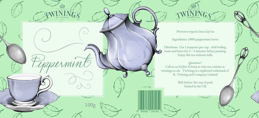 Illustrated Packaging Design - Vintage Style