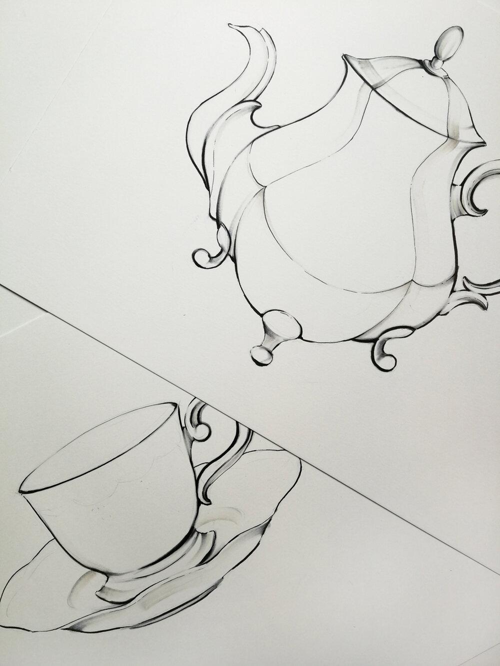 Teapot Sketch
