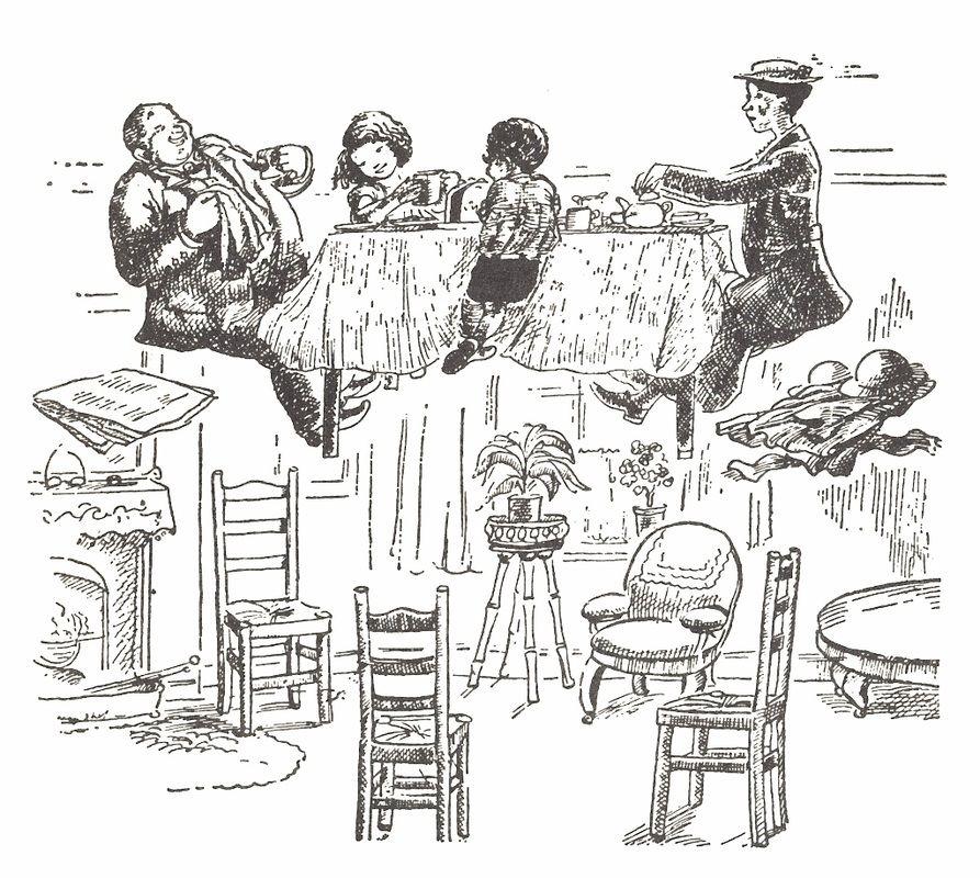 Chez l'oncle Albert. Illustration de Mary Shepard