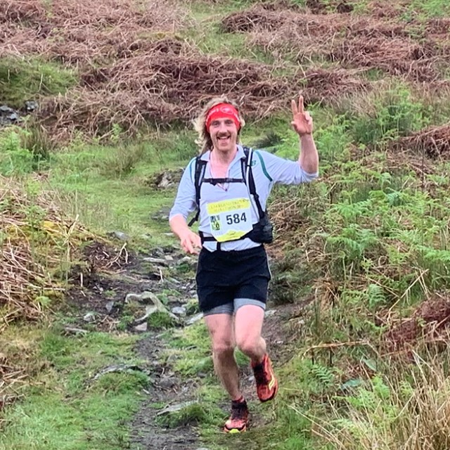 Our client Harry Wickham doing his first marathon. Completing Coniston trail in a very respectful 5 hours.